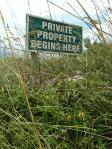 Private Property sign MGD©